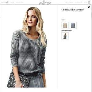 Ellos chunky gray sweater Med Euc plus